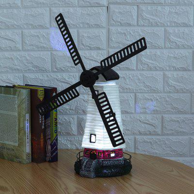 Solar Powered Garden Windmill Lighthouse Rotating Beam LED Yard Light Ornament Lamp Home Decor Toy