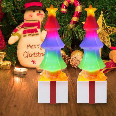 LED Christmas Tree Flame Bulb Atmosphere Light Colored Flame Crystal Rock Lamp