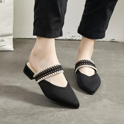 Pointed Head Female Slippers