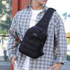 Portable Men Chest Bag with USB Charging Interface - BLACK