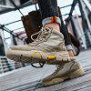 Men's High Top Boots Autumn Winter - LIGHT BROWN