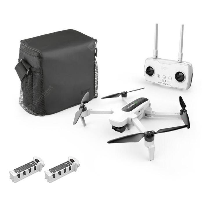 Hubsan H117S Zino 5G WiFi UHD 4K Camera 3-Axis Gimbal RC Camera Drone Quadcopter - White EU Plug, 2 Batteries + 1 Storage Bag
