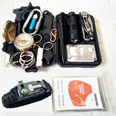 Outdoor Equipment Survival Tool Set Multifunctional Field First Aid SOS Emergency Supplies