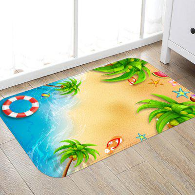 Seaside Background Pattern Floor Mat Carpet