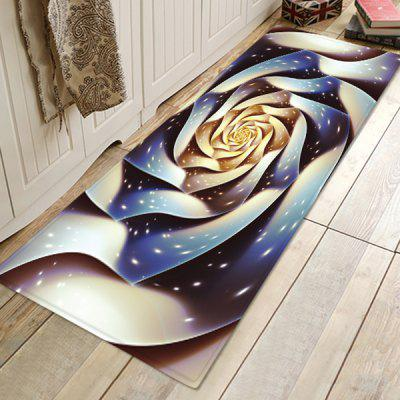 Three-dimensional Rose Pattern Background Floor Mat Carpet