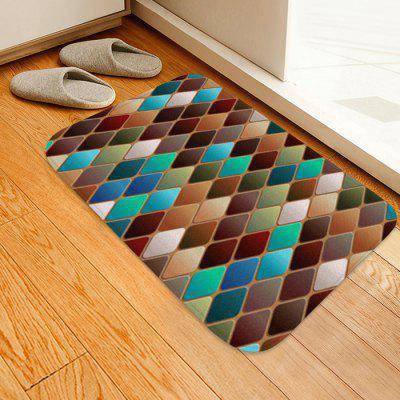 Geometric Diamond Pattern Background Floor Mat Carpet