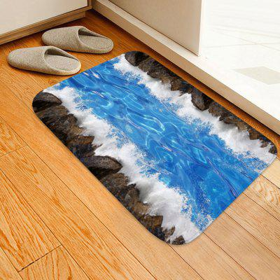 Blue Water Flow Pattern Background Floor Mat Carpet