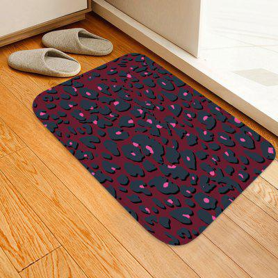 Three-dimensional Leopard Pattern Background Floor Mat Carpet