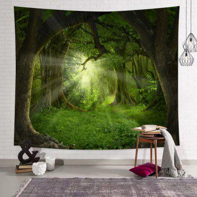 Green Forest Printed Polyester Tapestry