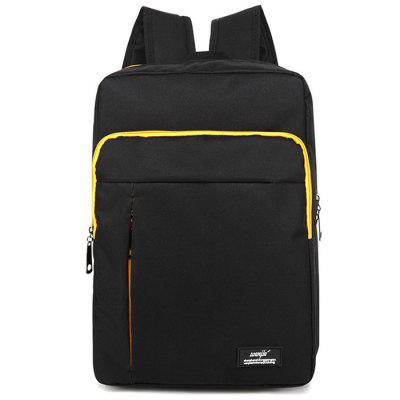 Trend Men Canvas Casual Backpack Junior High School Student Bag