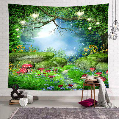 Forest Mushroom Printed Polyester Tapestry
