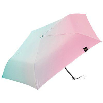 BANANAUNDER 19 Pencil Series Contrast Color Tri-fold Umbrella