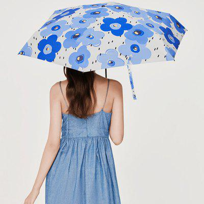 BANANAUNDER Pocket Series Forest Flowers Summer Five Fold Umbrella