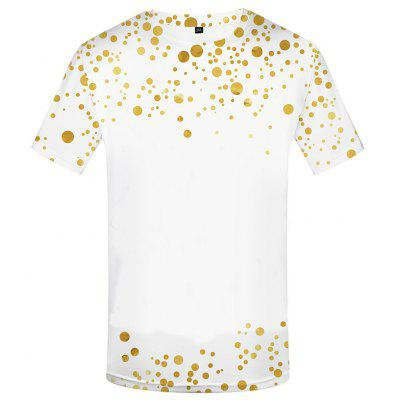 Psychedelic Men's Colorful Graffiti 3D T-shirt with Short Sleeve