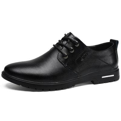 Large Size Men's Leather Shoes Handmade Casual