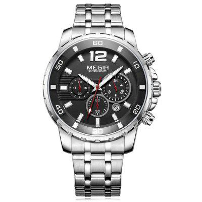 MEGIR 2068 Multifunction Men Waterproof Quartz Watch