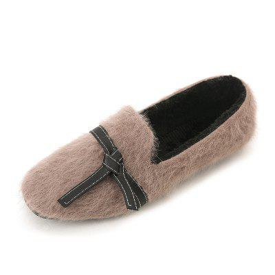 Flat Bottom Suede Women Shoes