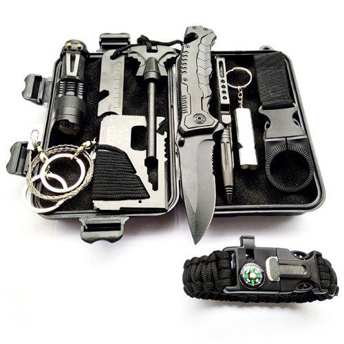 Upgrade Outdoor Survival Tool Kit Multifunctional Field First Aid SOS Emergency Supplies
