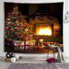 Christmas Tree Fireplace Decoration Tapestry - BLOOD RED