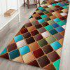 Geometric Diamond Pattern Background Floor Mat Carpet - SILK BLUE