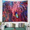 3D Digital Printing Living Room Underwater World Background Decorative Wall Tapestry - MULTI