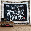 Letter Pattern Background Home Decor Tapestry - BLACK