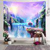 Waterfall Printed Polyester Tapestry - HELIOTROPE PURPLE