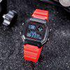 SANDA 418 Simple Square Men Waterproof Sports Watch with Luminous Function - RED