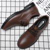 Large Size Men's Leather Shoes Fashion Trend - DEEP BROWN