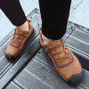 Hand Stitching Large Size Men's Casual Leather Shoes - SANDY BROWN