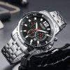 MEGIR 2068 Multifunction Men Waterproof Quartz Watch - SILVER