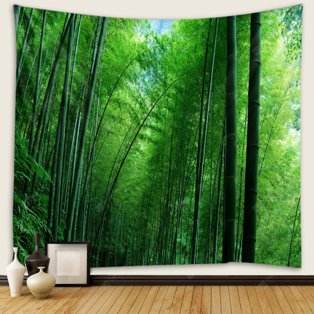 Green Bamboo Wall Decoration Tapestry