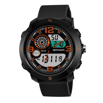 SANDA 762 Fashion Men Waterproof Sports Watch with Luminous Function