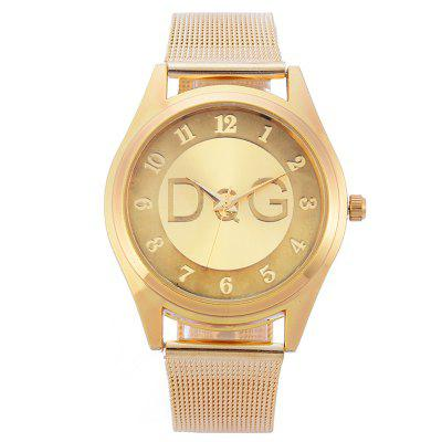 DQG A0601 Ultra-simple Fine Mesh Belt Casual Men Quartz Watch