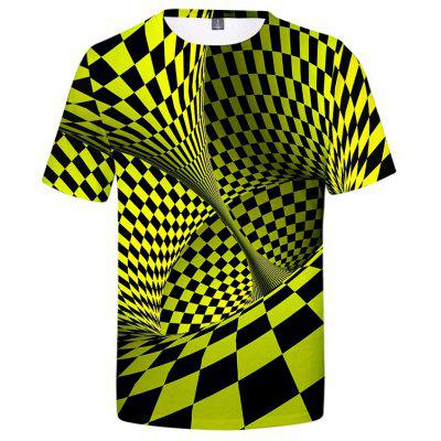 3D Creative Print Men's Short Sleeve T-shirt
