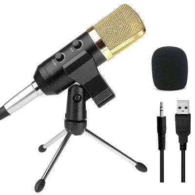 Microphone Audio à Condensateur USB Dynamique d'Enregistrement de Son avec Support de Montage Vocal
