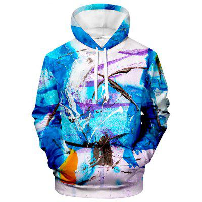 Men's Abstract Spray Paint Hoodie Sweater