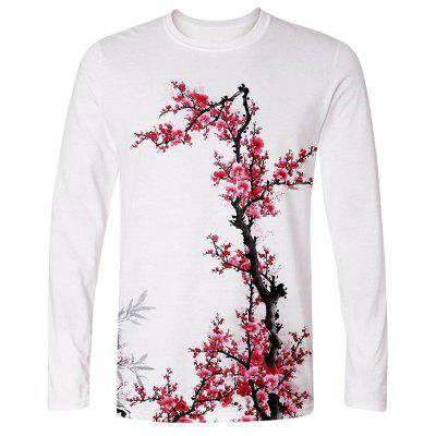 Men's Creative 3D Creative Print Long Sleeve T-shirt
