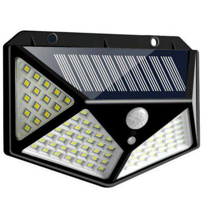 100-LED Solar Wall Light Human Body Induction Waterproof Stair Lamp