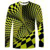 Creative 3D Print Men's Long Sleeve T-shirt - SAFFRON