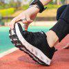 Breathable MD Bottom Men's Sports Couple Running Shoes - BLACK
