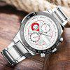 LONGBO 80131 Steel Belt Men Waterproof Casual Watch with Luminous Function - WHITE