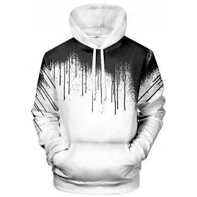 Creative heren 3D-print sweater met capuchon