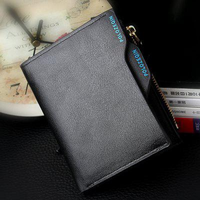 Fashion Creative Men's Zipper Multi-function Wallet