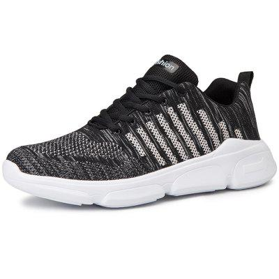 Summer Men Hollow Large Size Flying Woven Sports Shoes