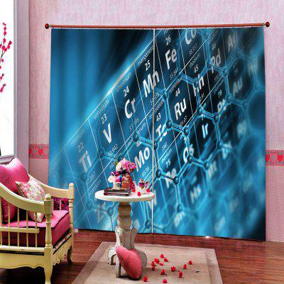 Digital Printing Environmentally Friendly Waterproof Curtain 2pcs