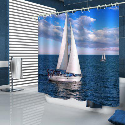 Sail Out To The Sea Pattern Shower Curtain