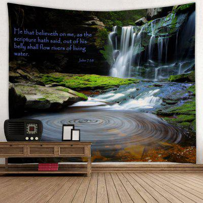 Deep Valley Waterfall Pattern Background Wall Dekorace Tapiserie