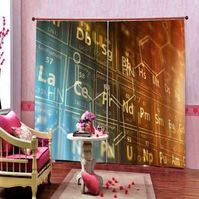 Technology Style Chemical Element Periodic Table Digital Printing Universal Curtain