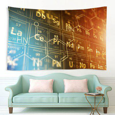 Vintage Style Chemical Elements Indoor Wall Decoration Printing Tapestry